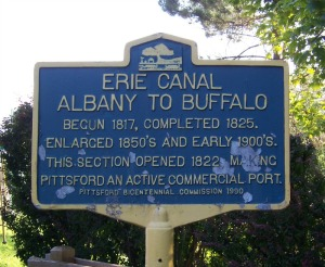 Erie Canal sign c